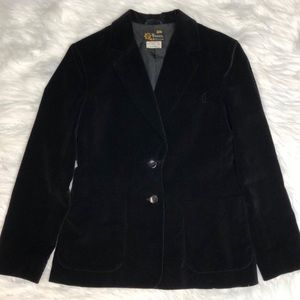 Vintage black velvet blazer or jacket Sz Small